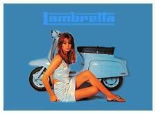 Lambretta Moped POSTER *LARGE* SEXY Jean Shrimpton Promo Ad 60's MOD cycle Vespa