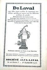 pub 1930 DeLaval Alfa Laval huiles, raffinage