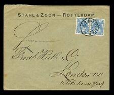 HOLLAND 1903 Stahl + ZOON BUSTA... 12 1 / 2c COPPIA CON TELAIO raddoppiato linea