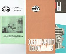 ETKVL Katalog  Bäckerei Maschinen aus Tallinn Estland Sowjetunion um 1965
