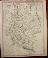 Russia in Europe Finland Caucasus Daghestan c.1840 SDUK detailed Walker map