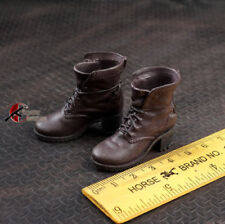 """1:6th 12"""" Female Figure Doll Accessory Brown Women Crude boots Shoe Model Toy"""
