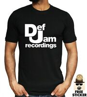 Def Jam Recordings Logo T-shirt Music Jay Z Kanye Bieber Inspired Unisex Tee Top