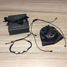 Blink Black and Silver Shamballa Style Necklace & Bracelet Brand New