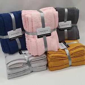6 Piece Towel Set. Choice of Colours