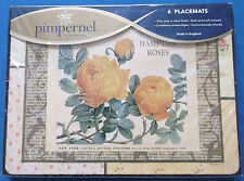 Six Pimpernel Style Vintage Hampton Rose Table Sets de Table Factory Sealed Inutilisé