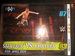 Slam Attax 10 WWE WWF OMG-Card Nr.65 Zayn vs. Cena Sammelkarte Trading Card