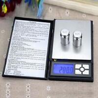Pocket 500g x 0.01g Digital Jewelry Gold Book Note Gram Balance Weight Scale L@C