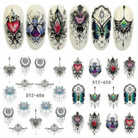 40 Sheets Decal Water Transfer Flower Manicure 3D Nail Art Stickers DIY Decor