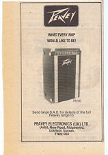 PEAVEY AMP ADVERT press clipping 1978  (27/5/78) 15X10cm