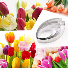 4xTulips Flower Petal Stainless Cookie Biscuit Cutter Mould Fondant Baking Tool