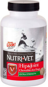 NUTRI-VET - Hip & Joint Extra Strength Chewables for Dogs - 75 Chewables