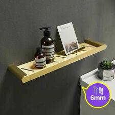 Modern Brushed Gold Aluminum Bathroom Shelves Wall Mounted Shower Storage