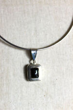 Retired Silpada Sterling Silver Black Onyx Frame Pendant only S0113