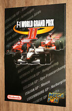 1999 WWF Attitude / F-1 World Grand Prix II very rare small Poster 42x30cm