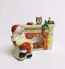 Votive Sleepy Santa In Rocking Chair By Fireplace List Figurine Candleholder