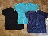 New Womens Green Tea Short Sleeved Enzyme Wash Top Shirt Blue Black S M L XL 2XL