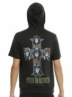 01792f7e6a Guns N' Roses Appetite For Destruction Short Sleeved Hoodie sleeve NW SZ  Small