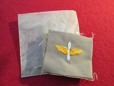 WW 2 US Army Air Force Prop and Wing Officer collar insignia Embroidered pair