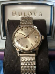 1973 Bulova Clipper Vintage Automatic Watch, 11AOACD, Calendar, Serviced