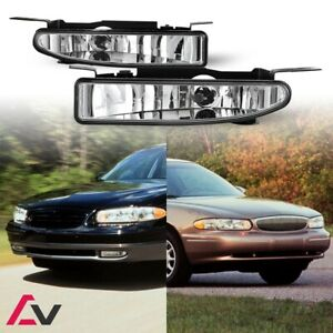 97-05 For Buick Clear Lens Pair Bumper Fog Light Lamp OE Replacement DOT Bulbs