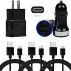 For Moto Razr+ One Fast G9 G7 Play Dual USB Car Charger Wall Plug Type C Cable
