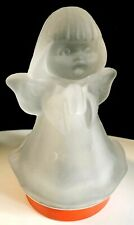 Vintage Ruege Frosted Glass Angel Silent Night Music Box