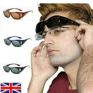 Polarised Sunglasses Over Glasses Wrap Around UV400 Over Prescription Eyewear UK