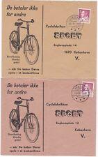 # 1968/9 2 x GREENLAND CYCLING ADVERTISING COVERS NARSAAQ & JULIENEHAB > DENMARK