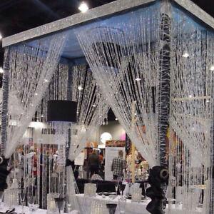 33FT Acrylic Crystal Bead Curtain Chandelier Wedding Garland Hanging DIY Decor