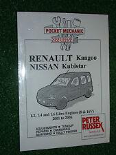 RENAULT KANGOO NISSAN KUBISTAR WORKSHOP MANUAL 1.2 1.4 1.6 PETROL +4x4 2001-2006