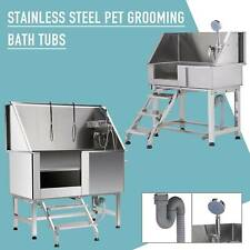 """34"""" 50"""" Pet Dog Grooming Bath Tub Station Professional 304 Stainless Steel"""