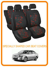 Tailored seat covers for Toyota Avensis Saloon 2003 - 2008 FULL SET GREY/RED