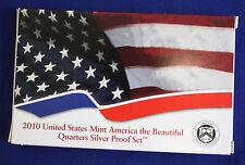 2010-s SILVER. U.S. Mint made America the Beautiful  QUARTERS  proof Set