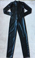 Forplay Full-Length Body Suit, Size S/M, Shiny Black, Long Sleeves & Pant Legs
