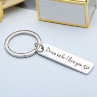 Stainless Steel Trucker Keyring Drive Safe Key Chain Jewelry Accessories