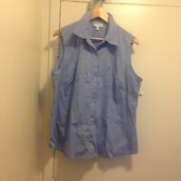 Jones New York Suit Separates Sleeveless Blue Blouse Size 18 W