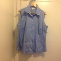 Jones New York Suit Separates Sleeveless Blue Blouse Size 18 W