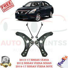 Front Lower Control Arm w/ Ball Joint & Sway Bar Link For 2012-2017 Nissan Versa