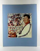alter Reklame Druck hinter Passepartouts Musiker Ritchie Valens 50x40cm 546