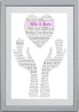 Wedding Gift Vow Renewal Wedding Anniversary Personalised Word Art *Print Only**