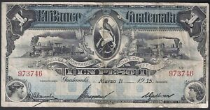 Guatemala 1 Peso 1915 P-S141 .//LEB