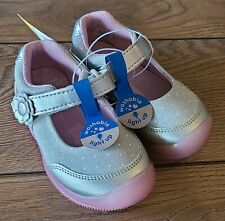 Toddler Girls Size 8 Surprize Stride Rite Light-up SNEAKERS Gray Silver Pink