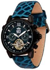 Analoge mechanische Armbanduhren (Handaufzug) in Blau