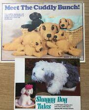 English Sheepdog, mother and puppies Original Toy Knitting Patterns