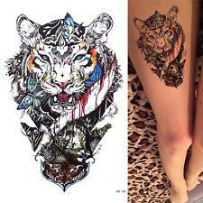 Tiger Fake Waterproof Body Arm Henna Temporary Tattoo Sticker YU#04