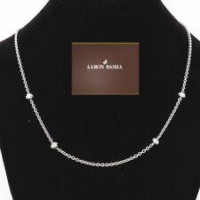 NYJEWEL Aaron Basha 18K White Gold Diamond Station Necklace