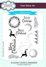 Creative Expressions Clear Stamp Set - Elegant Stars & Reindeer - Xmas - CEC799