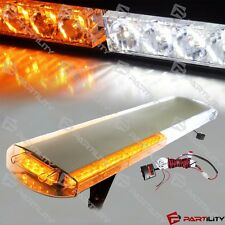 30 inch 56 LED White Amber Emergency Warn Truck Strobe Light Tow Bar Roof Bolt