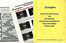 SOUNDCRAFTSMEN - TG2245 AND G2241   OPERATING INSTRUCTIONS + SCHEMATICS